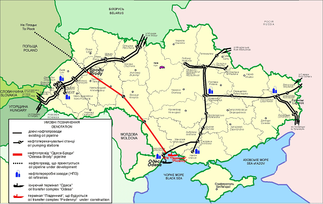 нефтепровода Одесса-Броды