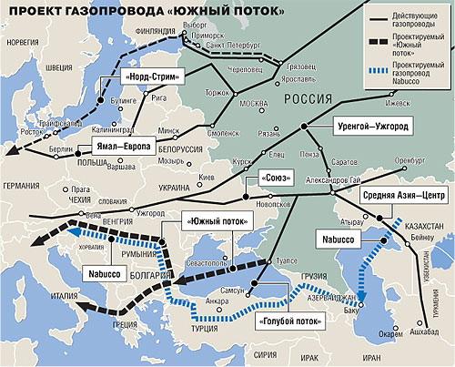 обход Украины газопровода