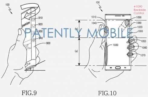 Samsung предлагает размещать сенсорные органы управления на тыльной стороне смартфонов