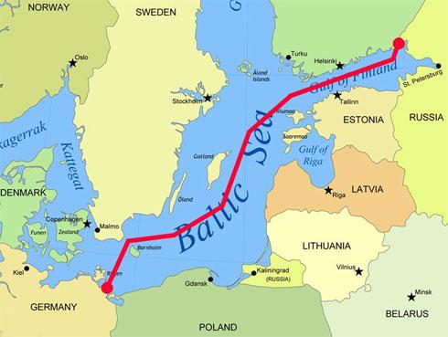 Картинки по запросу северный поток 2 на карте