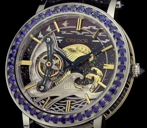 Seiko создал часы с турбийоном в честь Хокусая