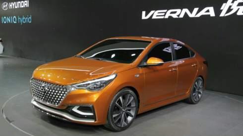 Компания Hyundai привезла на Пекинский автосалон концептуальный седан Verna Concept