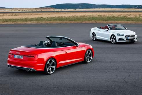 Компания Audi официально представила кабриолеты A5 и S5 нового поколения