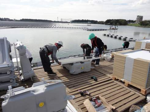 Kyocera рассказала о ходе строительства крупнейшей в мире плавучей солнечной электростанции