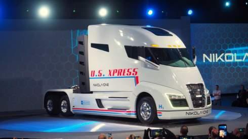 Американская компания Nikola Motor представила первый образец 1000-сильного водородного тягача One