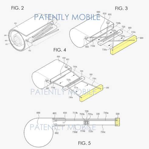 Компания Samsung запатентовала мобильное устройство со сворачивающимся дисплеем