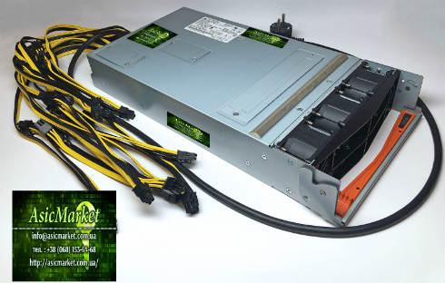 Блок питания для 2-х майнеров Antminer S7/S9 Delta Electronics DPS-2980AB 39Y7414 80PLUS PLATINUM 2980W power-supplies