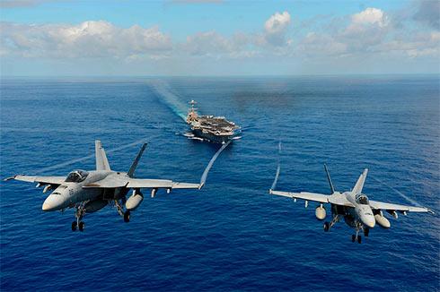 Пентагон выслал ударную группу ВМС США врайон Корейского полуострова