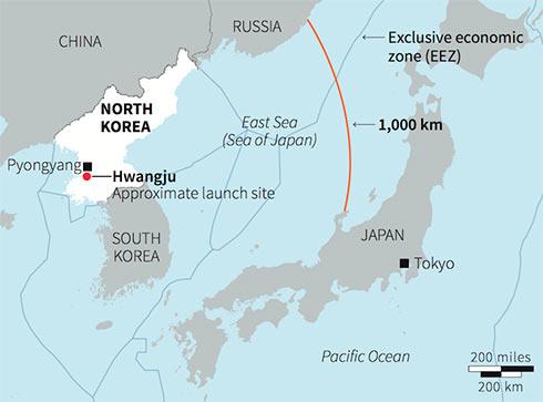 Ударная группа американских ВМС направилась кКорейскому полуострову