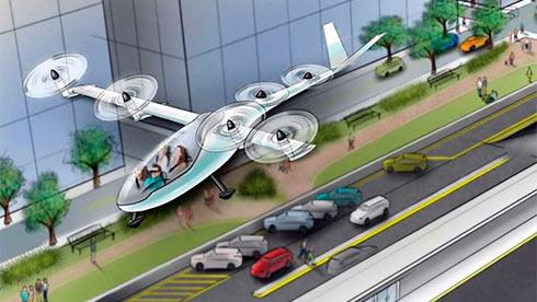 Летающие машины уже в 2020г. начнут перевозить клиентов Uber