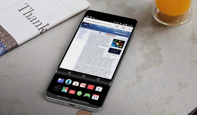 Обновленная версия LGV30 будет слайдером с 2-мя тачскринами
