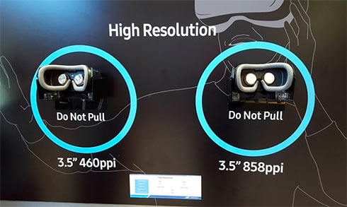 В Самсунг презентовали сверхчеткий 3,5-дюймовый VR-экран