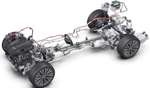 Электроустановка седана Audi A8 откроет новые возможности