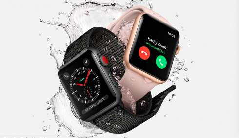 Apple Watch series 3 получили модуль сотовой связи