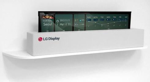 LGпредставила 65-дюймовый сворачивающийся втрубочку телевизор