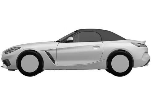 AutoWeek опубликовал патентные изображения родстера BMW Z4 нового поколения