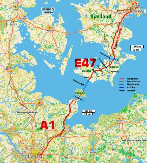 Германия одобрила строительство подводного туннеля в Данию