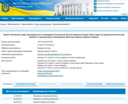 Мосийчук vs Супрун: проект писали на ПК нардепа от Оппоблока