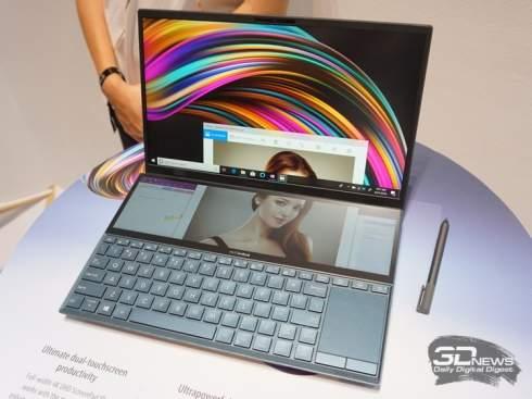 ASUS представила флагманский ноутбук ZenBook Pro Duo с двумя 4K-дисплеями