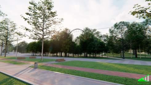 КП Киевгорразвитие показало, как будет выглядеть Гидропарк в Киеве после реконструкции
