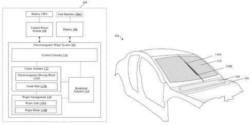 Tesla запатентовала магнитные дворники