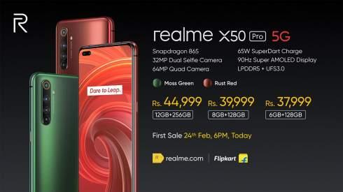 Realme X50 Pro 5G: смартфон с 90-Гц экраном AMOLED и процессором Snapdragon 865