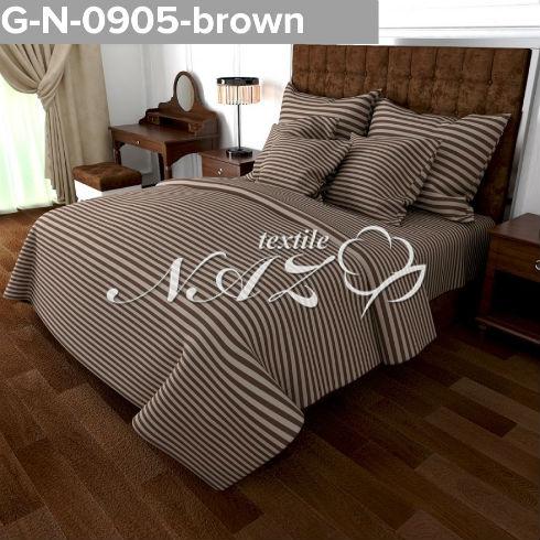 Комплект постельного белья Gold K-G-N-0905-brown