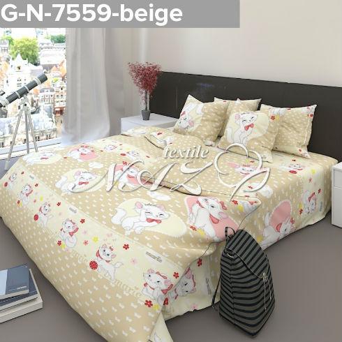 Комплект постельного белья Gold N-7559-beige