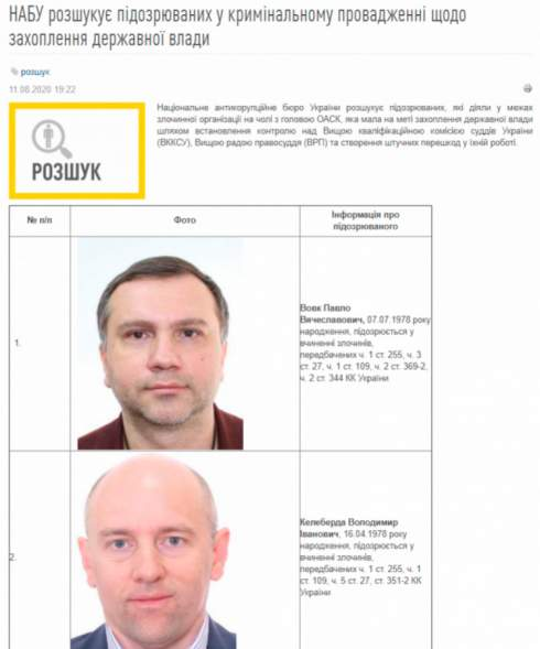 НАБУ против судьи Вовка: Как борцы с коррупцией выставляют Украину на посмешище