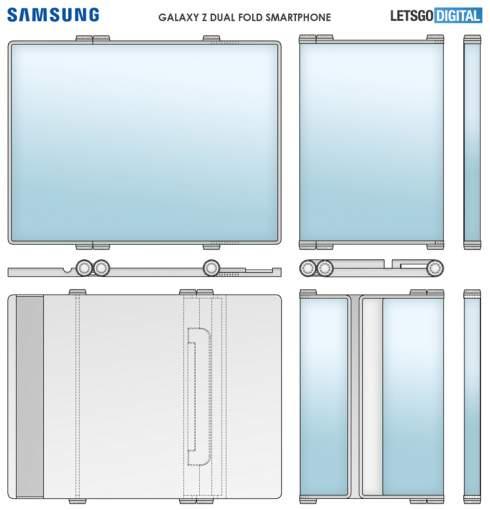 Samsung придумала невероятный гибрид смартфона, планшета и мини-ноутбка с гибким экраном