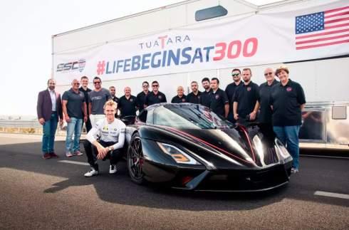 Гиперкар SSC Tuatara установил новый рекорд скорости — 508,73 км/ч