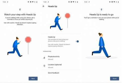 Android научится предупреждать тех, кто уткнулся в смартфон на ходу