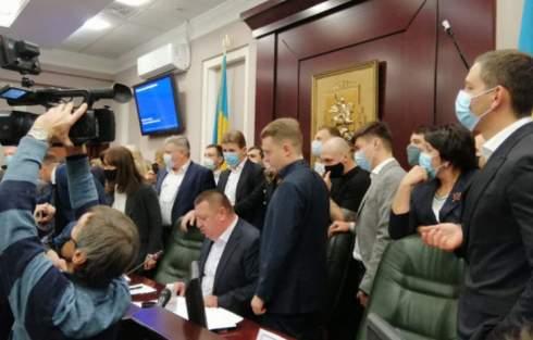 Скандальный старт Киевского облсовета: Как «слуги Коломойского» власть делили
