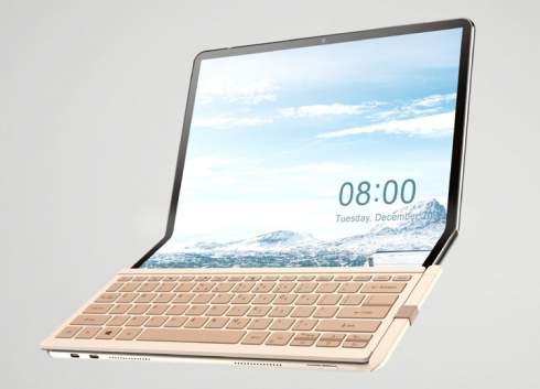 Планшет-трансформер Wistron Foldbook оснащён гигантским гибким дисплеем