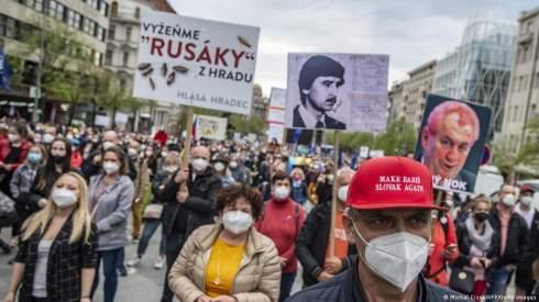 В Праге протестовали против президента Чехии