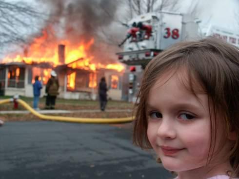 Мем о «девочке-катастрофе» продали за 180 ETH