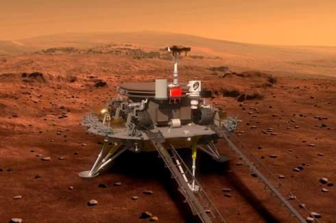 Китай впервые успешно доставил зонд на поверхность Марса