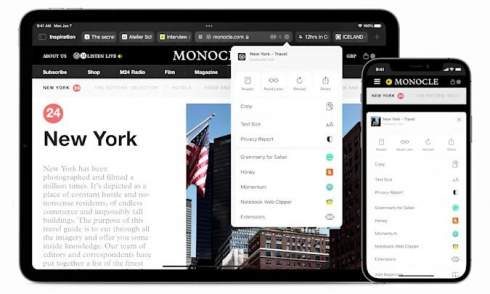 Apple добавила веб-расширения для Safari на iPad и iPhone