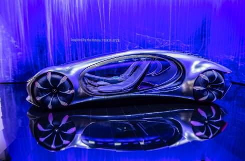 Электрокар Mercedes-Benz Vision AVTR научился читать мысли