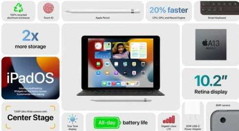 Apple представила новый iPad за 330 долларов